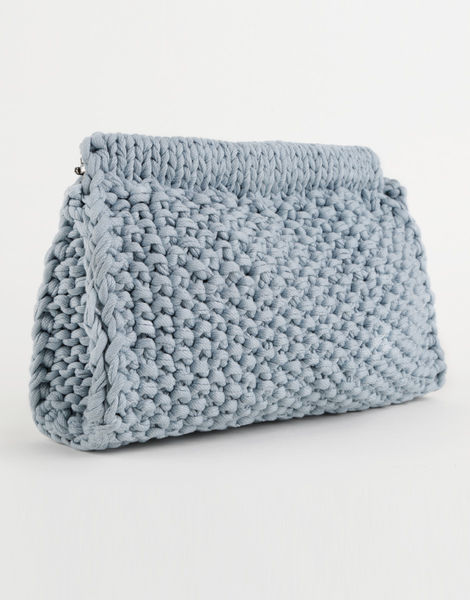Knitted Clutch Bag Pattern : Hey Now Clutch Knitting Kit WOOL AND THE GANG