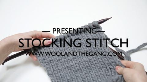 Stockinette Stitch Stocking Stitch Knitting Wool And The Gang