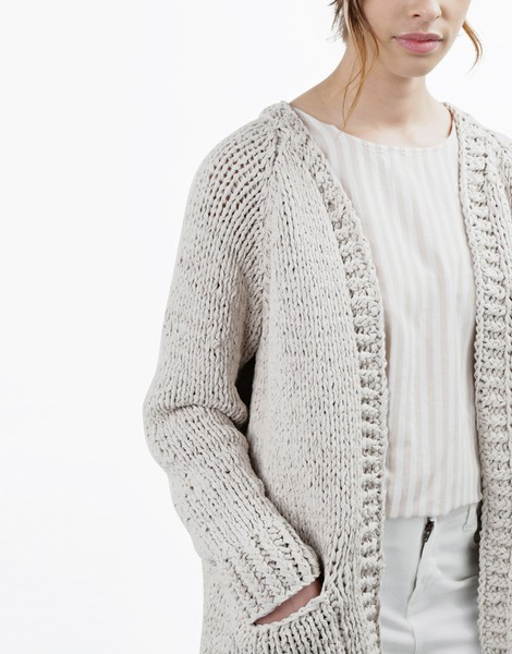 Big Fun Cardigan | Women | Knitting Kit | WOOL AND THE GANG