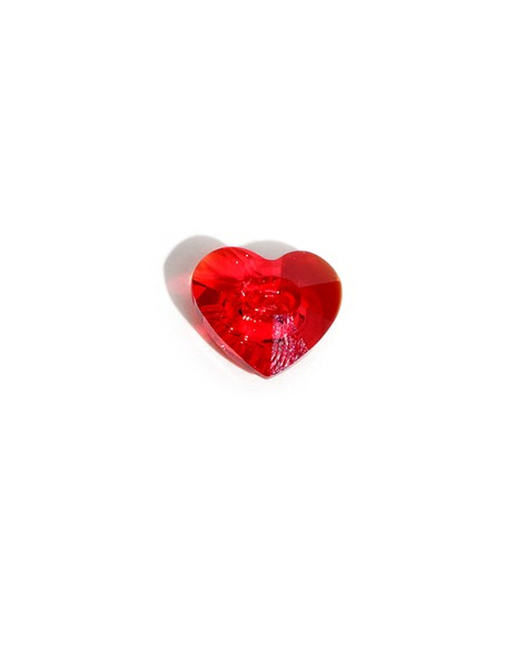 01 swarovski heart button red