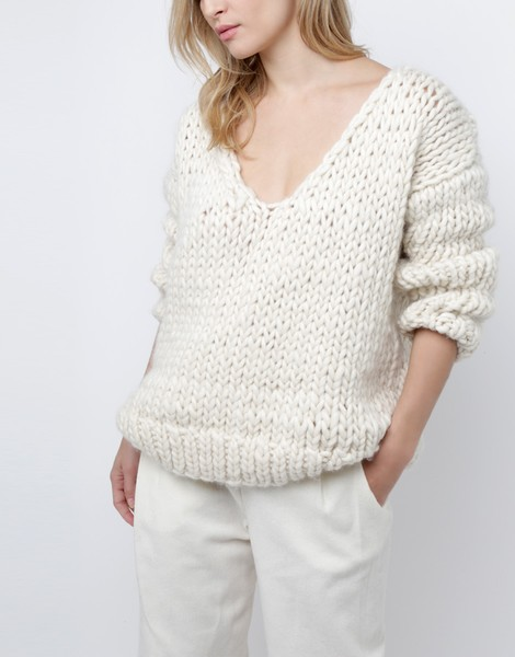 Way Wool Sweater | Women | Knitting Kit | WOOL AND THE GANG
