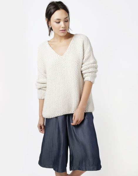 01 paradis v neck sweater ivorywhite