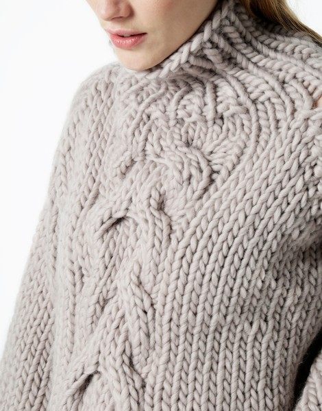 Cropped Cable Sweater | Women | Knitting Kit | WOOL AND THE GANG