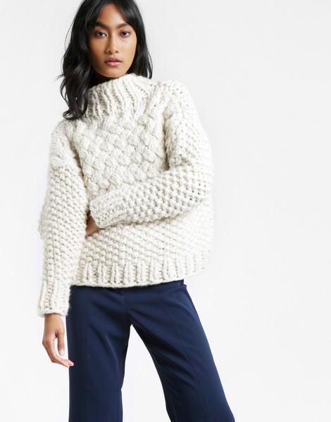 Knitting Jumper Kits : Full moon jumper knitting women kit wool