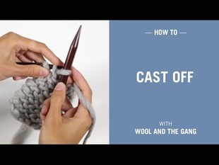 How to cast off / bind off