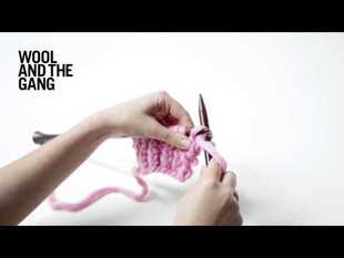 Twisted rib stitch