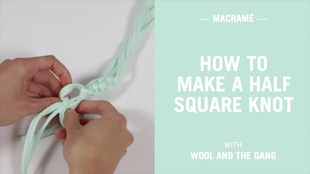How to make a half square knot