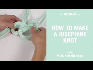 How to tie the josephine knot