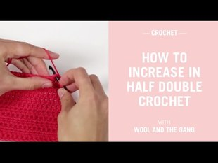 Half double crochet increase