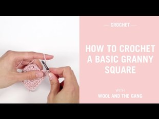 Crochet a basic granny square
