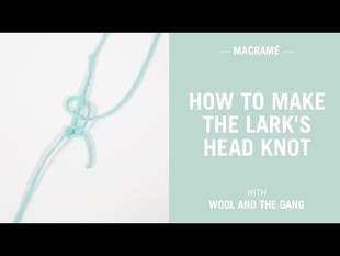 How to make a lark's head knot