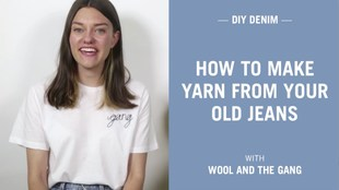 How to make yarn from your old jeans