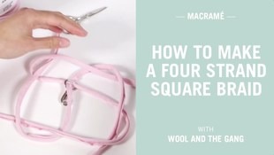 How to make a four strand square braid