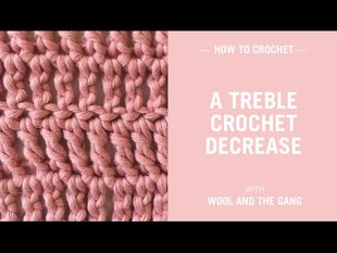 Treble Crochet Decrease