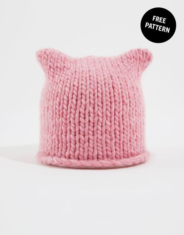 Free knitting patterns knit kits wool and the gang - Free cat hat knitting pattern ...