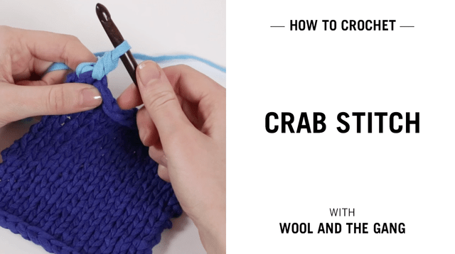 Crab Stitch Knitting Wool And The Gang
