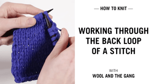 Working through the back loop of a stitch