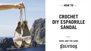 Crochet your own Copacabana Espadrille Sandal Shoes