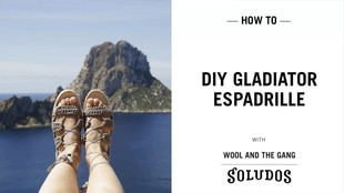 Crochet your own Copacabana Espadrille Gladiator Shoes
