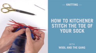 How to kitchener stitch the toe of your sock