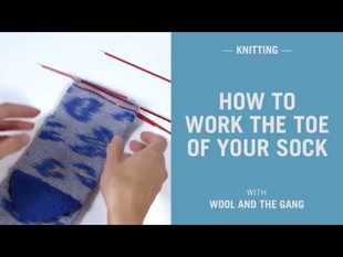 How to work the toe of your sock