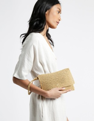 Money Honey Clutch Bag Crochet