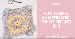 How to make an alternating double crochet join