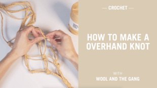 How to make a overhand knot