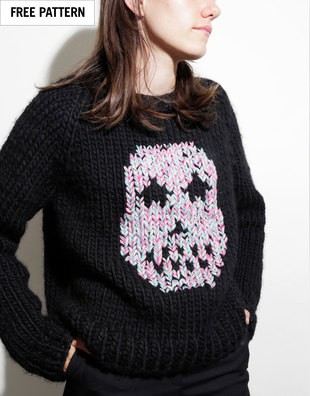 Free Sugar Skull Sweater Pattern